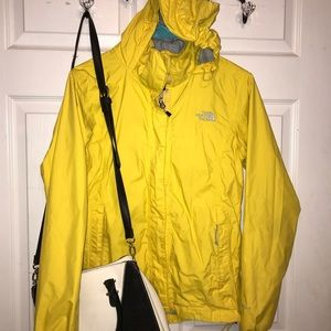 Yellow North Face Rain Jacket